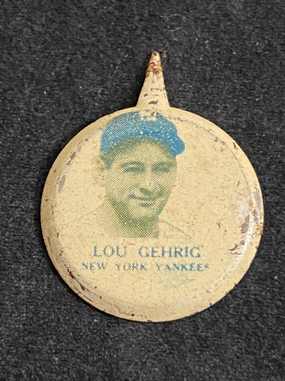 Vintage 1938 Our National Game Pin Lou Gehrig