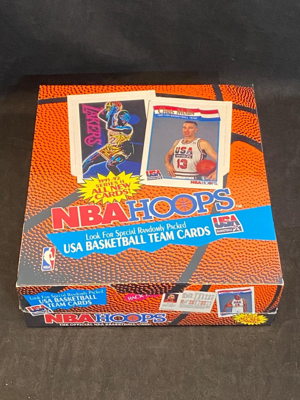 Factory Sealed 1991-92 NBA Hoops Series II Rack Pack Box - 12 Rack Packs & 47 Cards/Pack