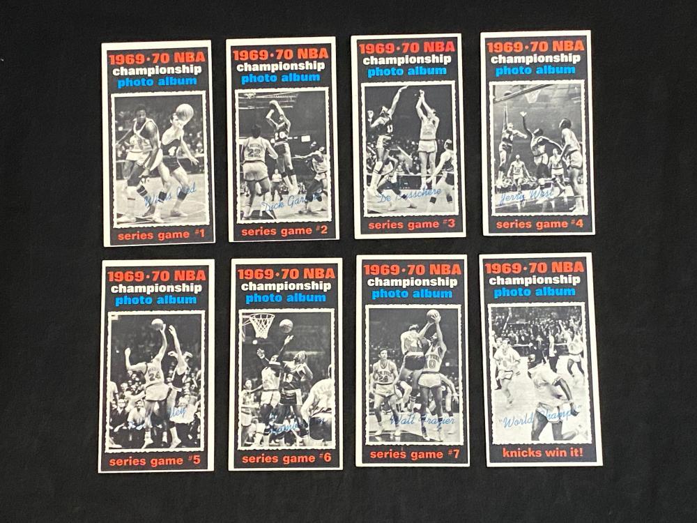 (8/8) 1970-71 Topps NBA Championship Photo Album Basketball Cards Set