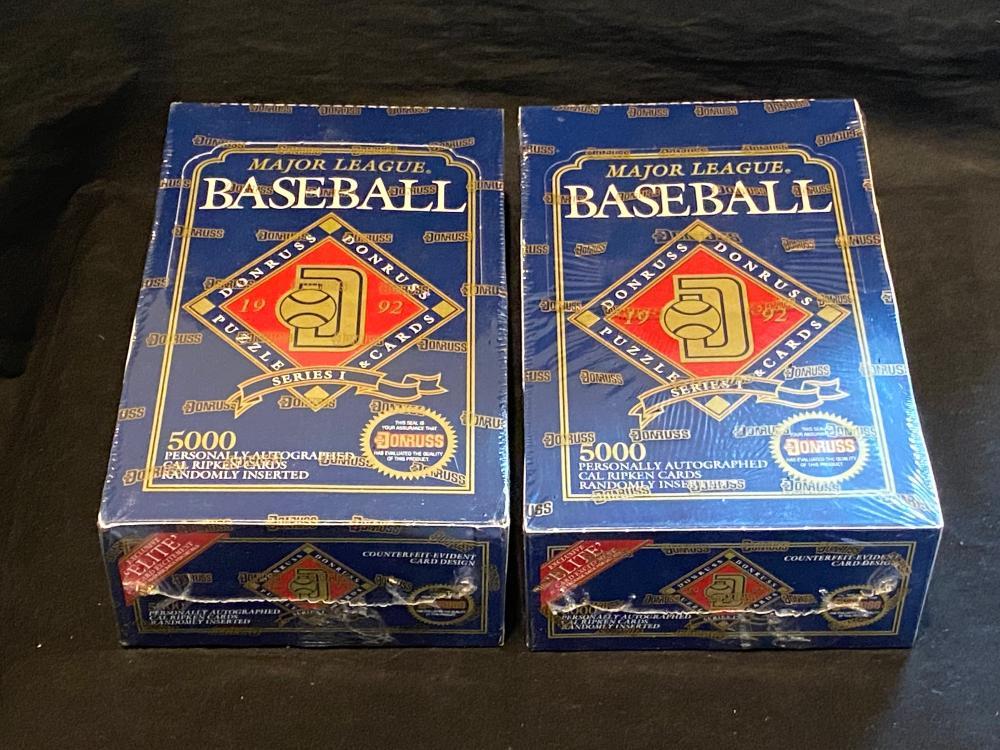 (2) Factory Sealed 1992 Donruss Baseball Wax Box - Ripken Auto??