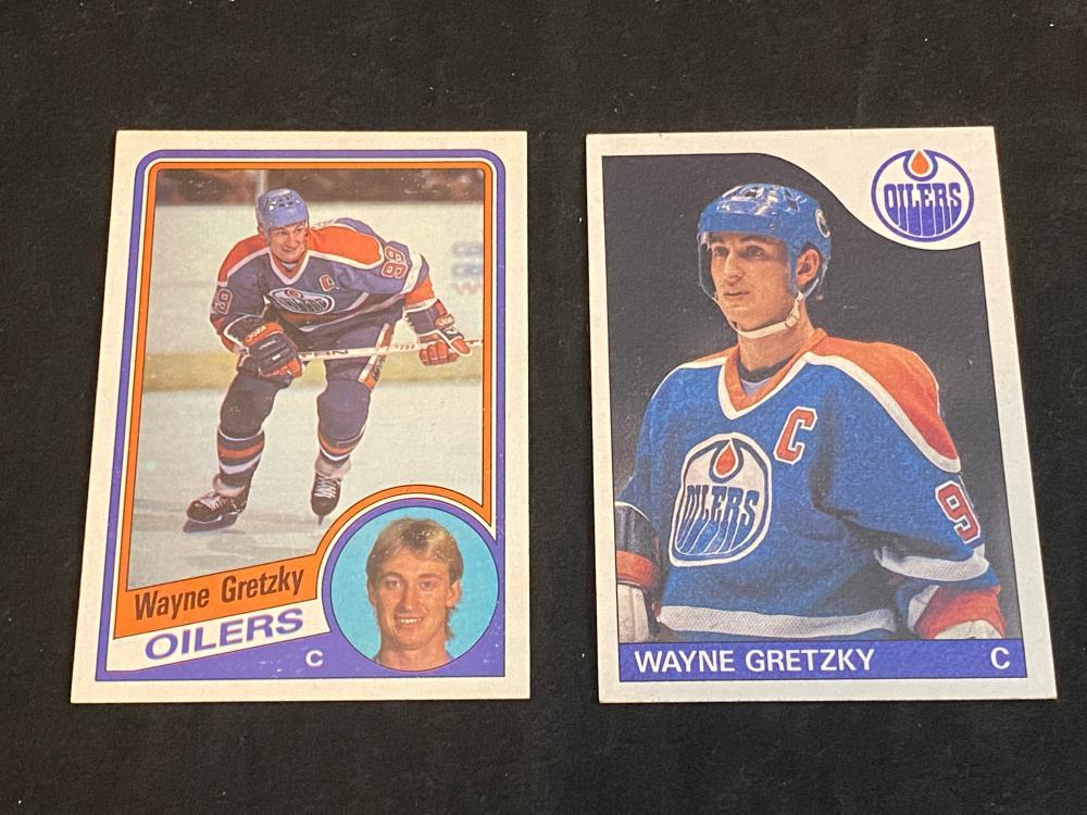 (2) NM 1984-86 Topps Wayne Gretzky Hockey Cards
