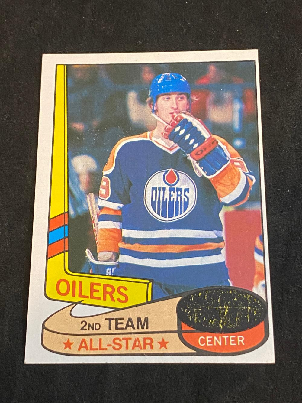 (NM) Unscratched 1980-81 Topps All Star Wayne Gretzky #87 Hockey Card
