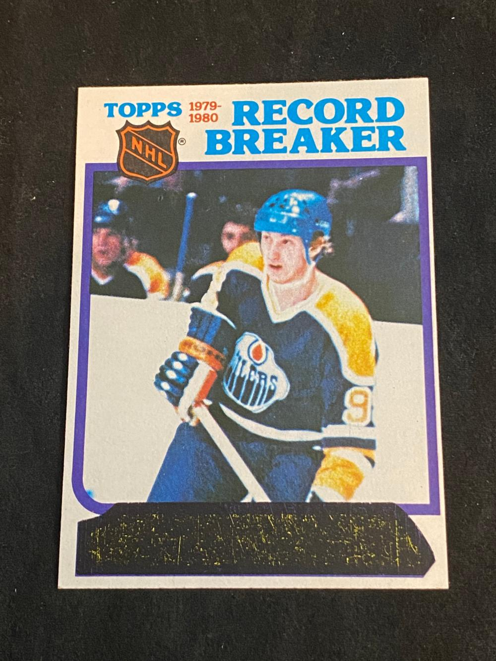 (NM) 1980-81 Topps Wayne Gretzky Record Breakers (Unscratched) #3 Hockey Card