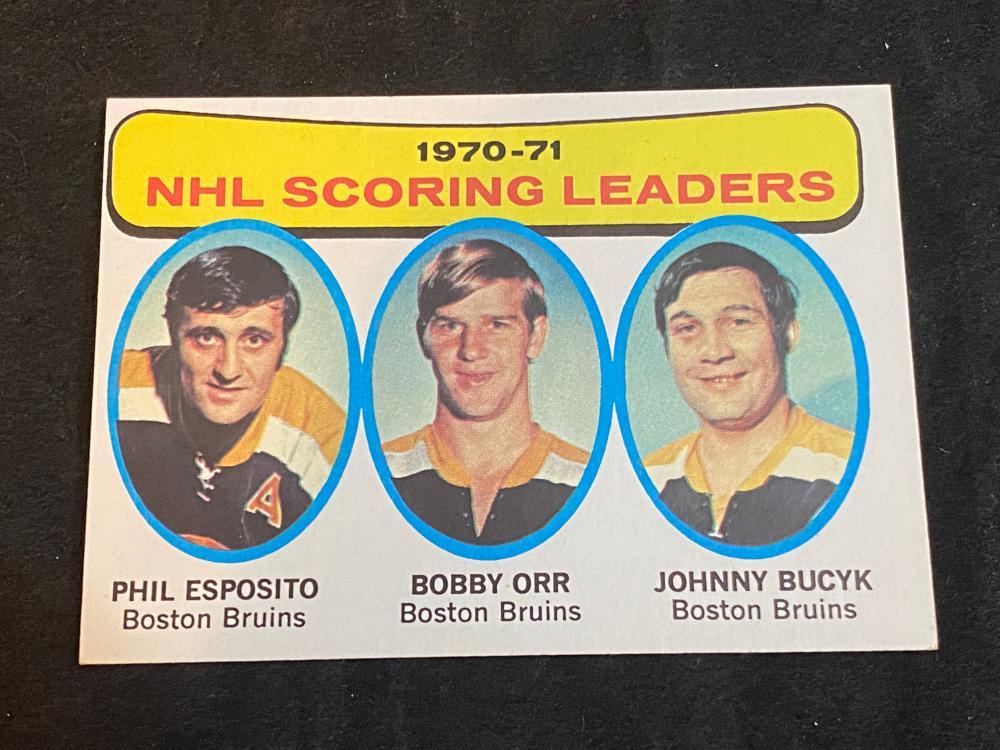 (EXMT) 1971-72 Topps NHL Scoring Leaders Bobby Orr #3 Hockey Card