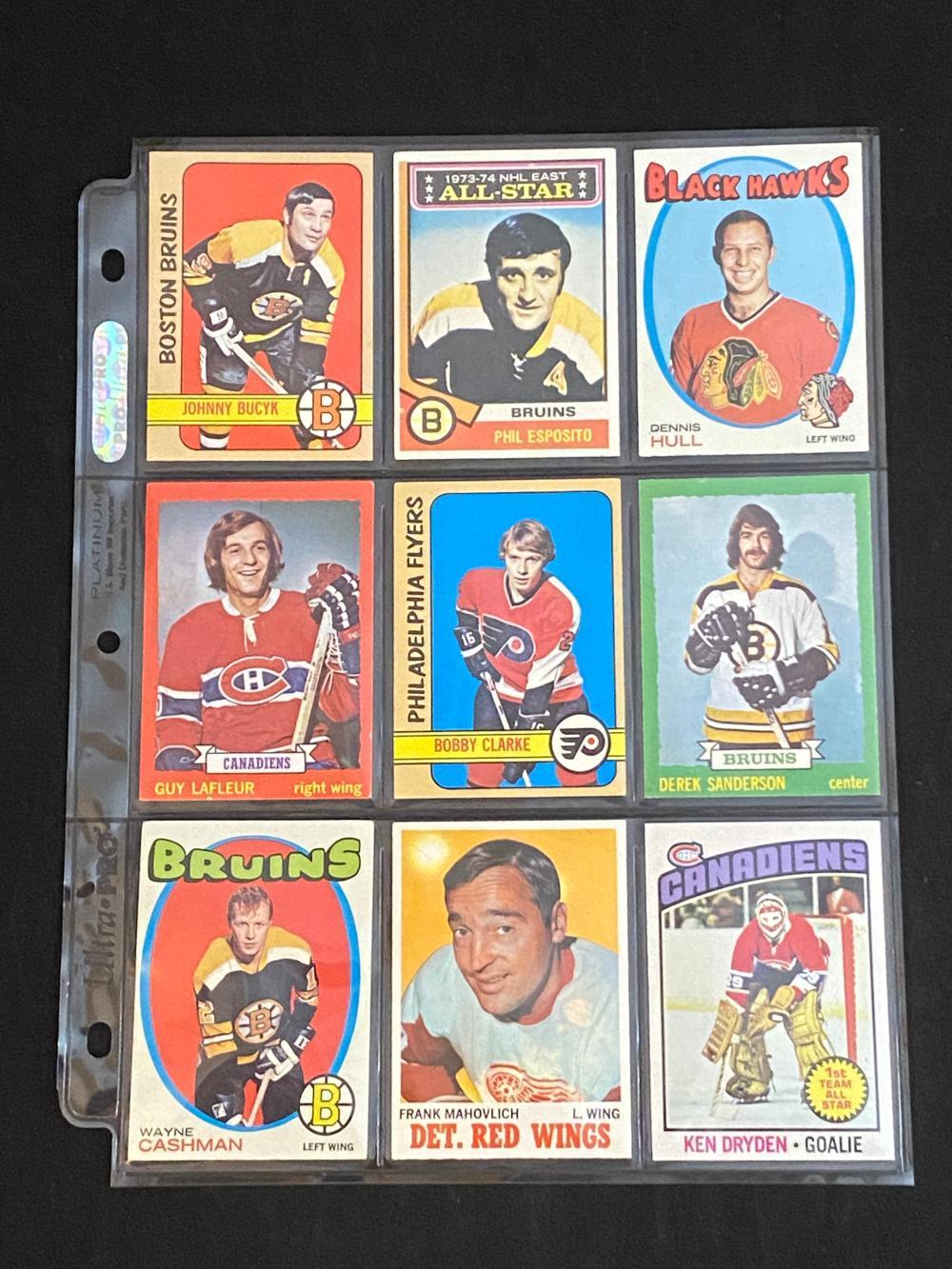 (18) VGEX-EX 1970s Topps Hockey HOFs