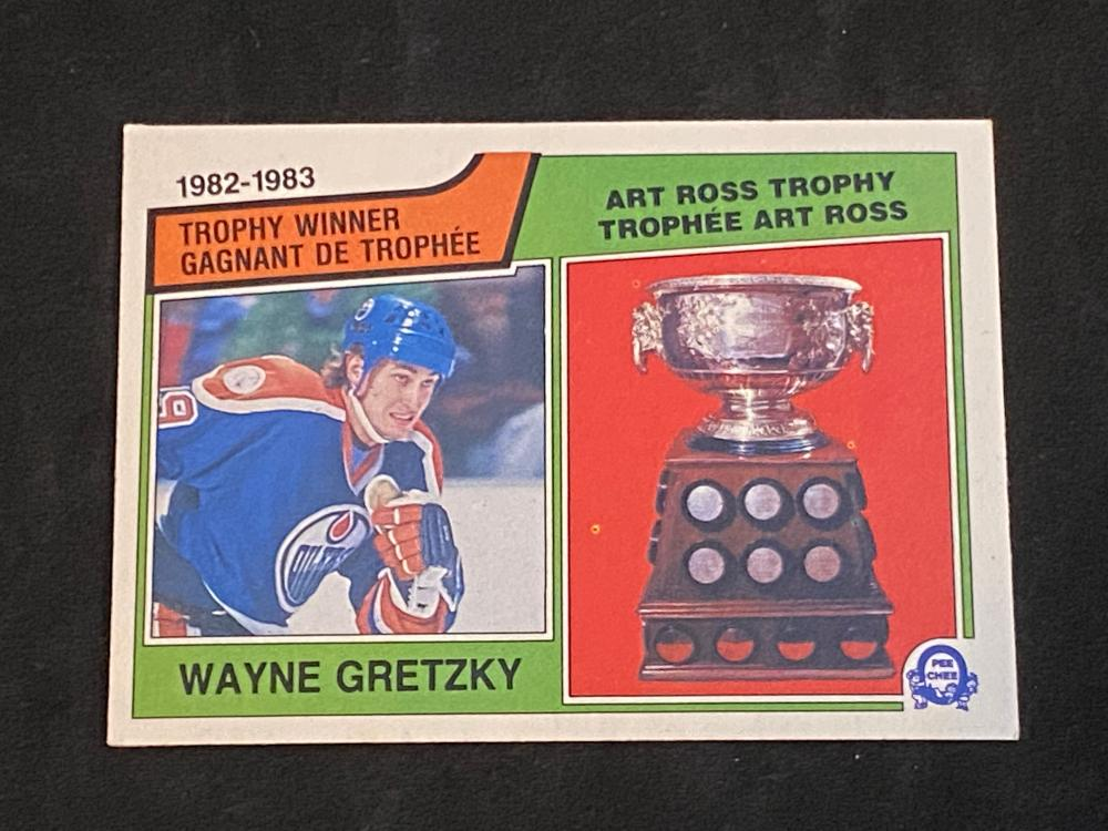 (NM-MT) 1983-84 O-Pee-Chee Art Ross Wayne Gretzky #204 Hockey Card