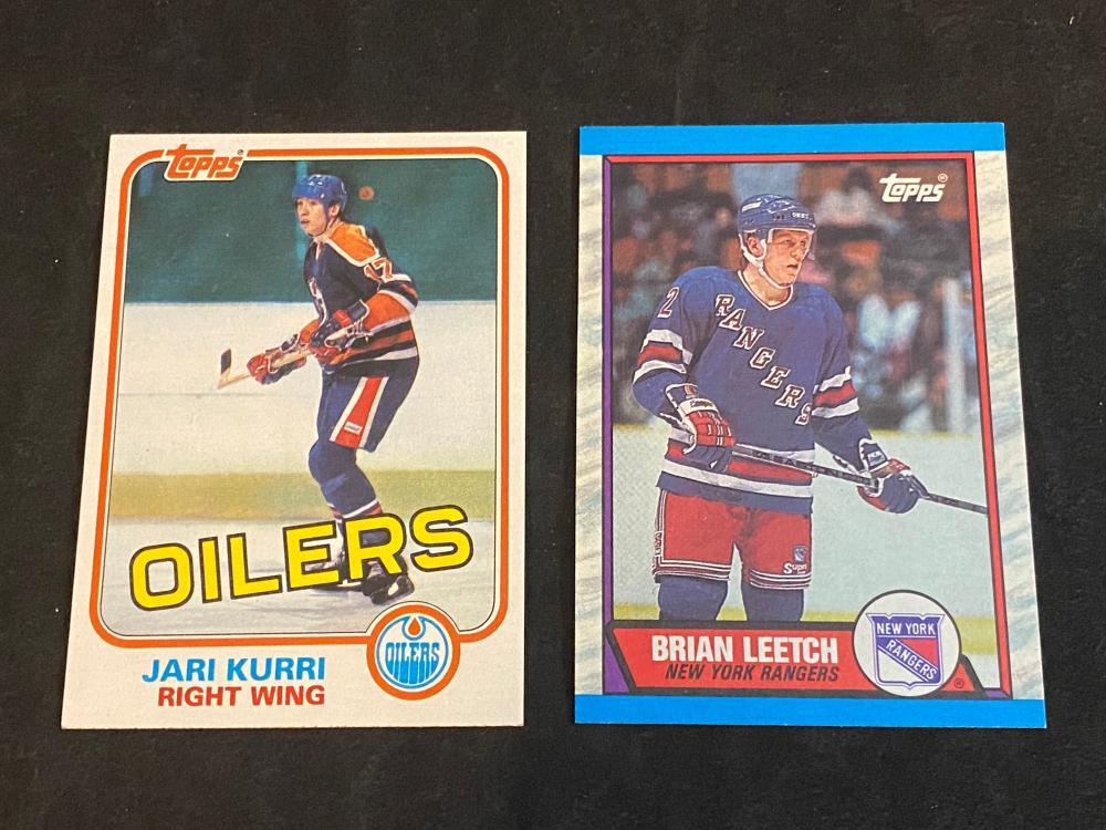 (2) Mint 1980s Hockey HOF Rookies: Jari Kurri & Brian Leetch