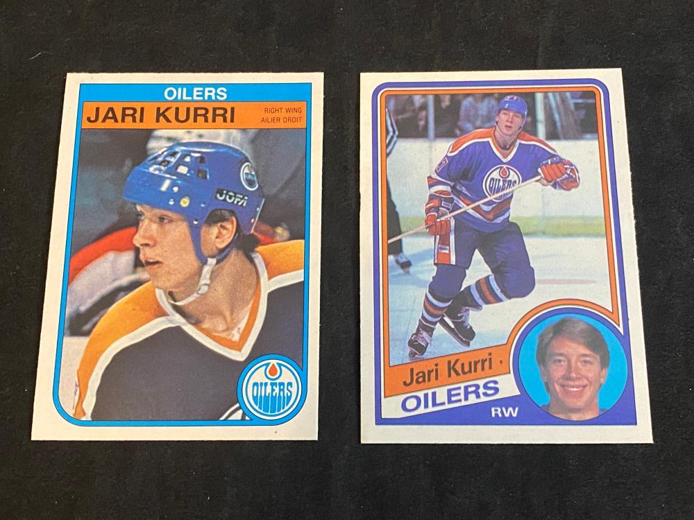 (2) Mint O-Pee-Chee Jari Kurri (RC & 2nd Year) Hockey Cards
