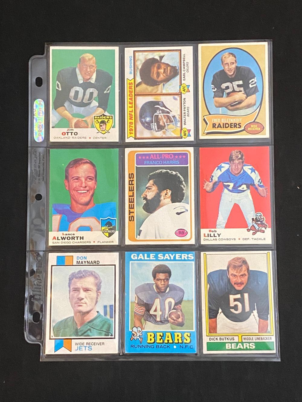 (18) EX 1960s-70s Topps HOFs Football Cards
