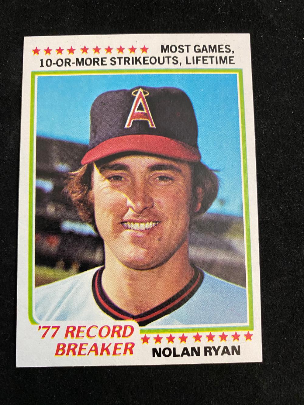 Record Breaker Baseball Card #6 1978 Topps Nolan Ryan