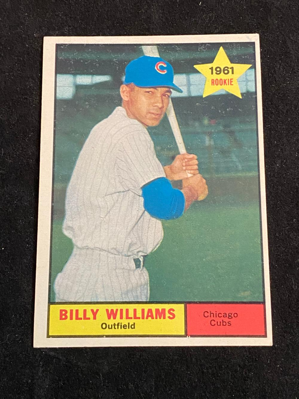 1961 Topps Rookie Billy Williams  Baseball Card #141