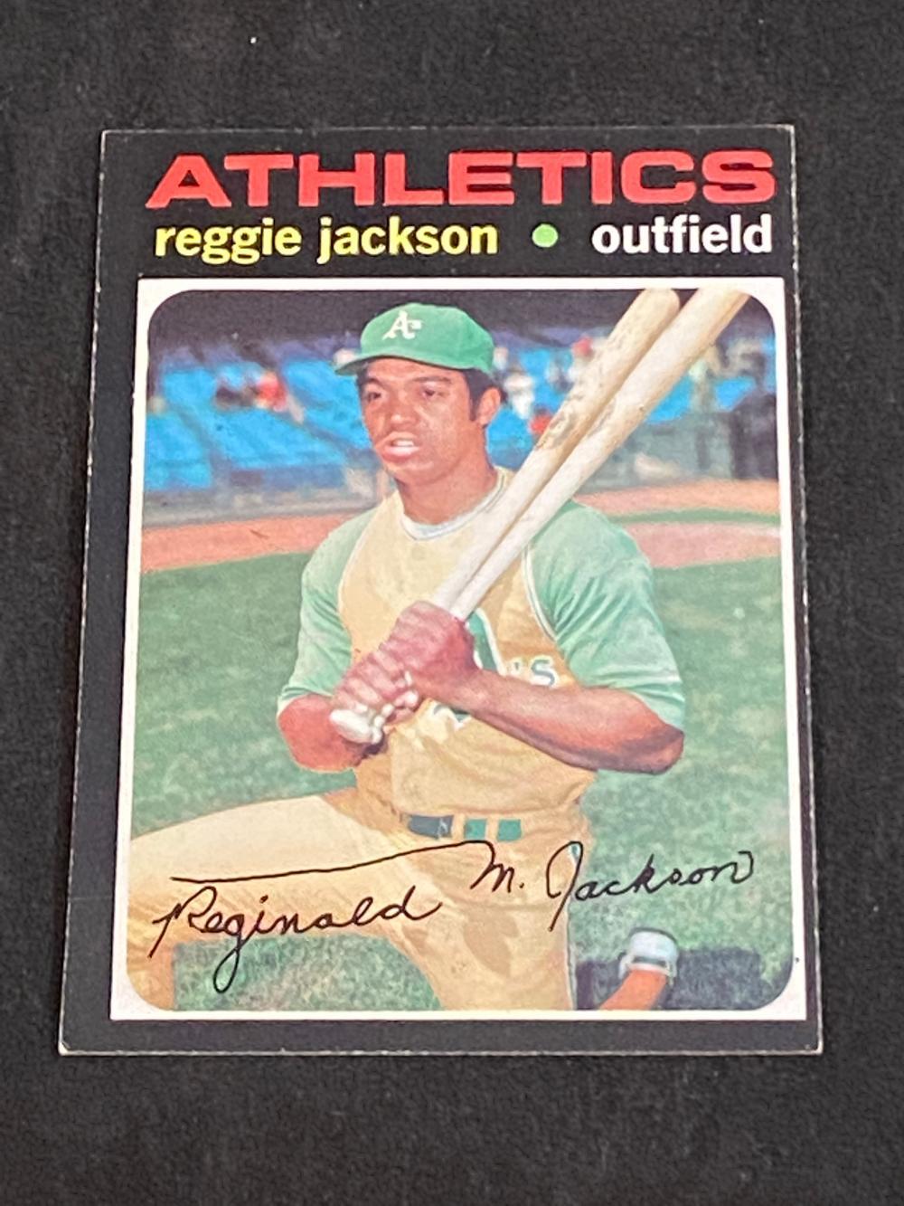 (EX) 1971 Topps Reggie Jackson #20 Baseball Card