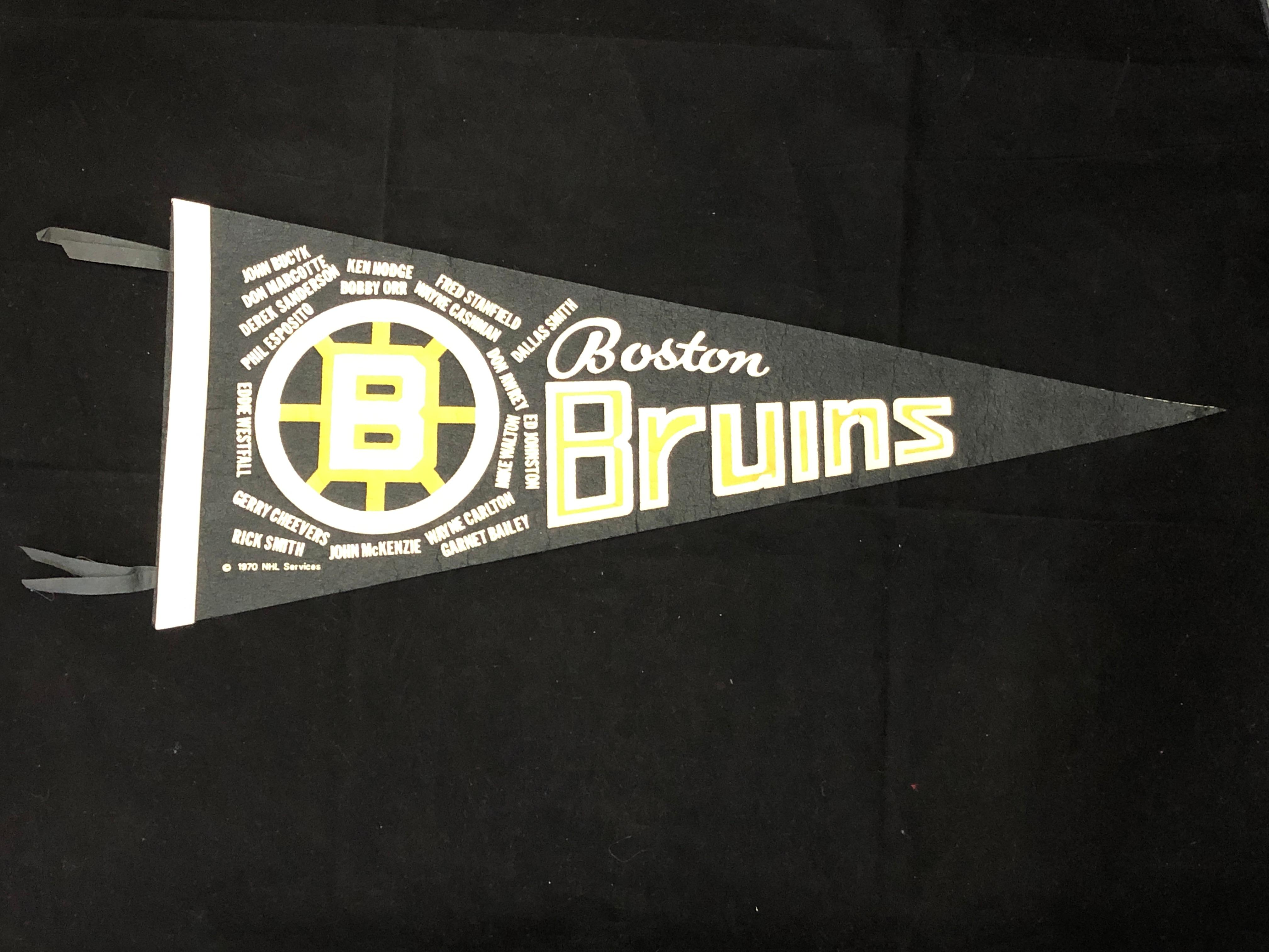 Lot - 1970 Boston Bruins Stanley Cup Champions Black Felt ...