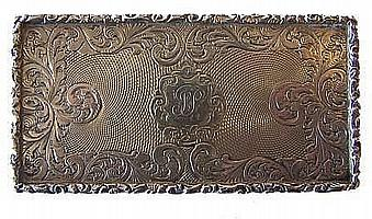 An early Victorian silver oblong Snuff Box with