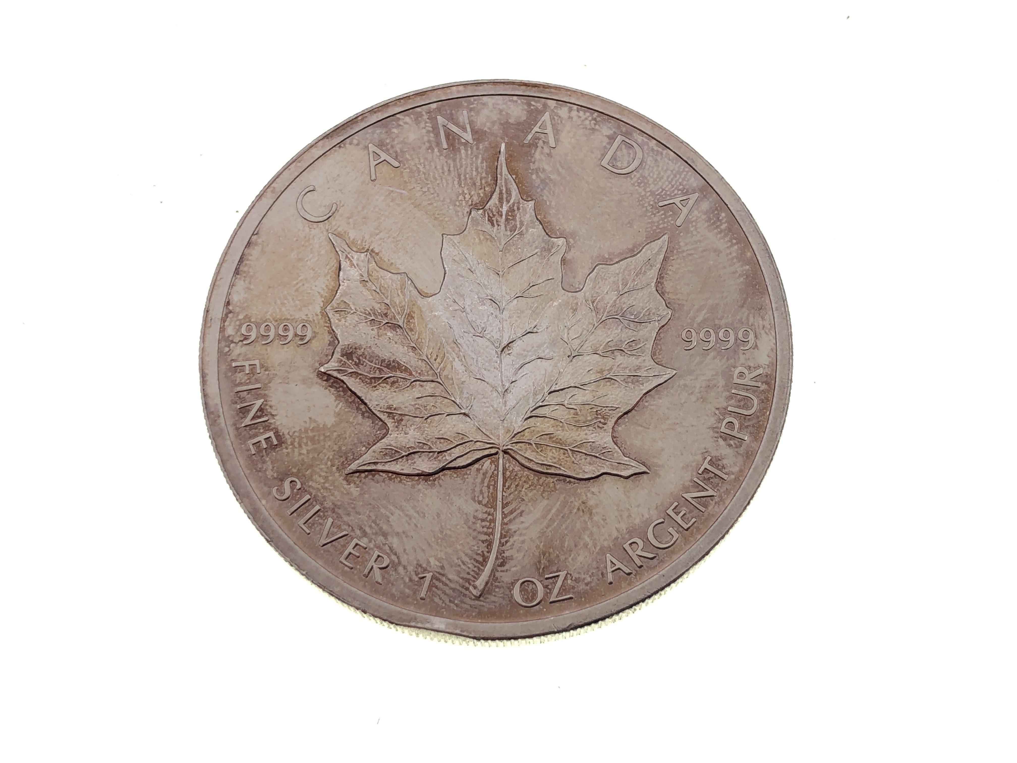 2011 $5 Canadian Maple Leaf 1 oz .9999 Fine Silver Coin