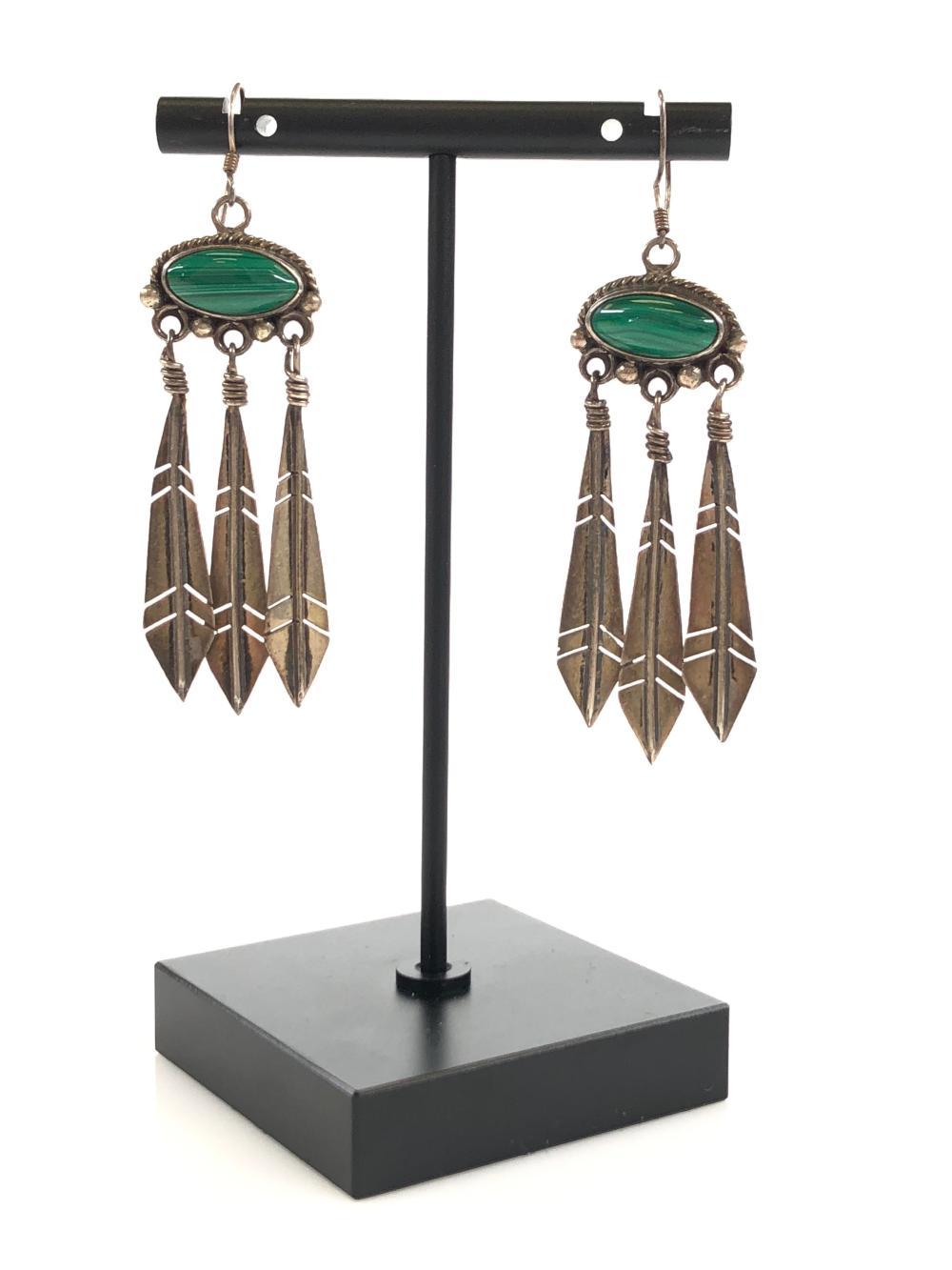 Lot - Vintage Nakai Native American Sterling Earrings
