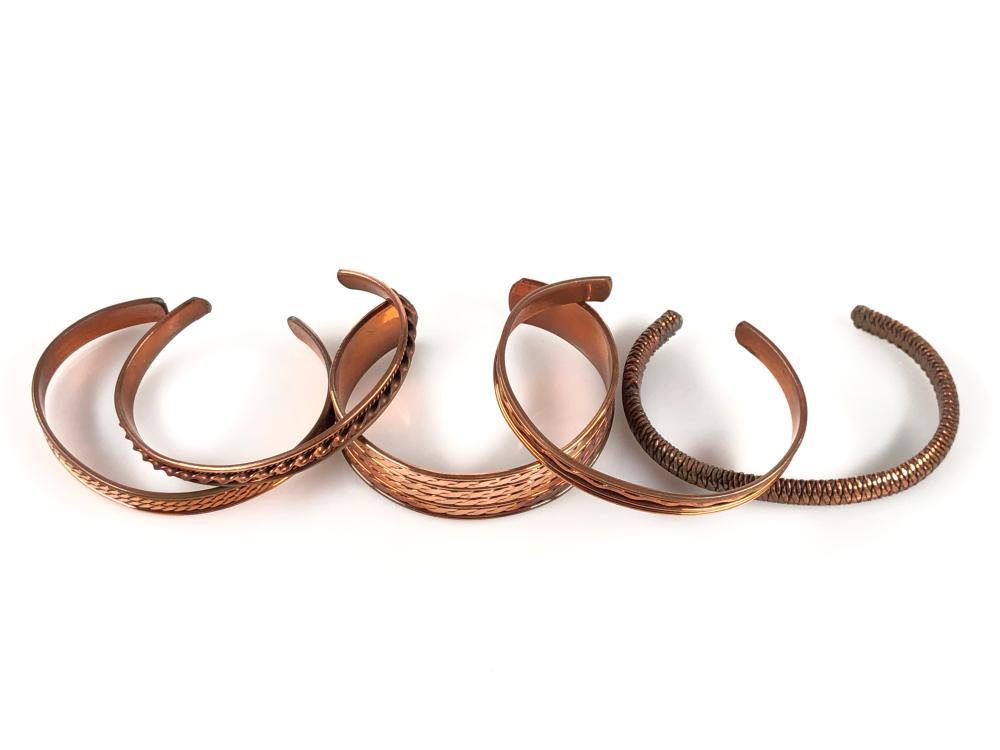 Copper cuff bracelet asian style