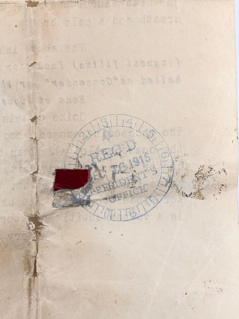 15 AD TIBERIUS COIN WITH c 1915 UNIVERSITY OF BERKELEY PROFESSOR AUTHENTICATION