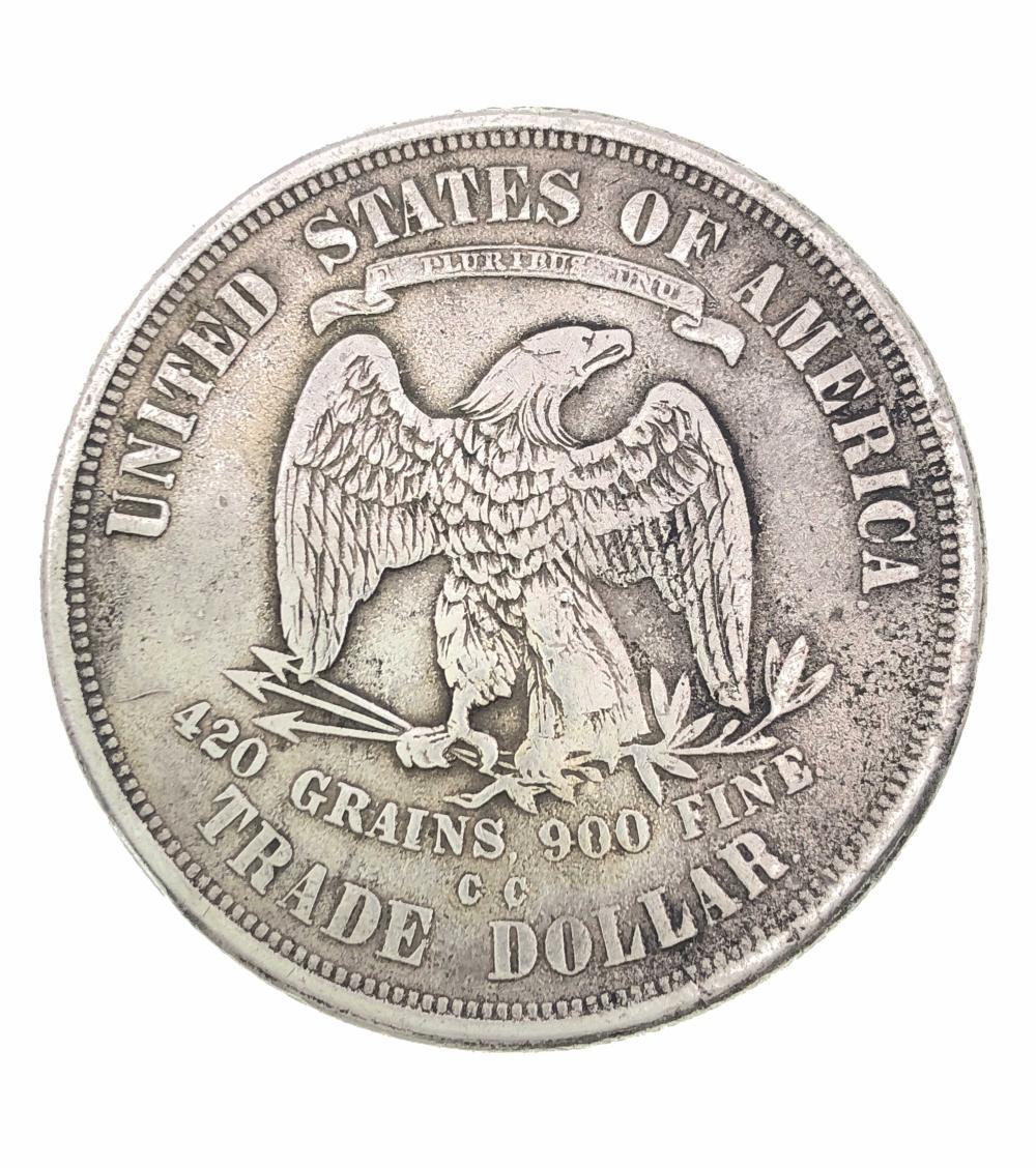 1874 CC CARSON CITY SILVER TRADE DOLLAR