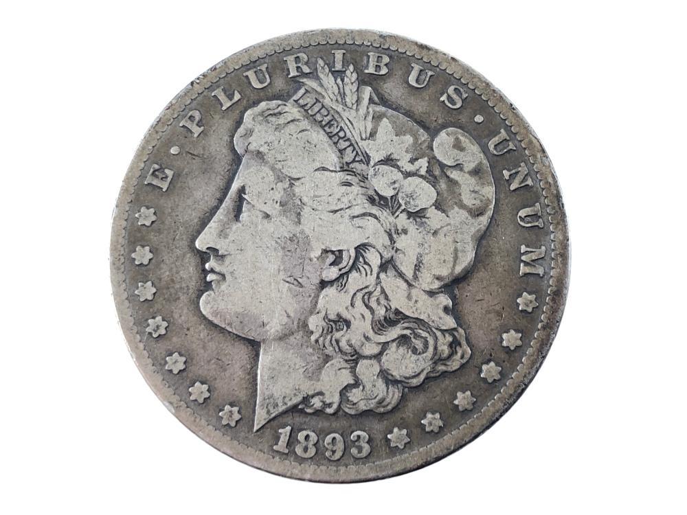 RARE! 1893 CC MORGAN SILVER DOLLAR
