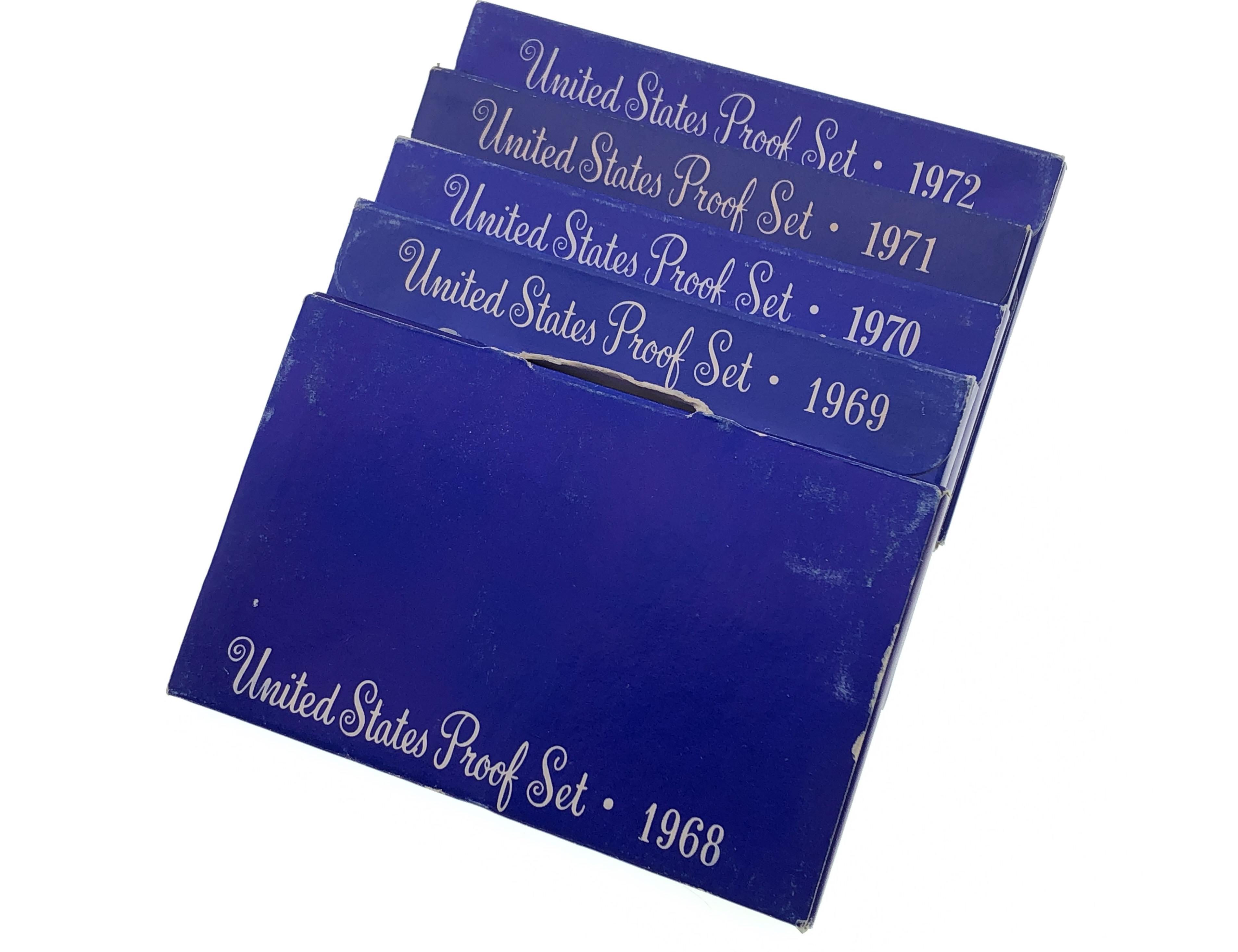 SET OF 5 1968-1972 U.S. MINT PROOF SET