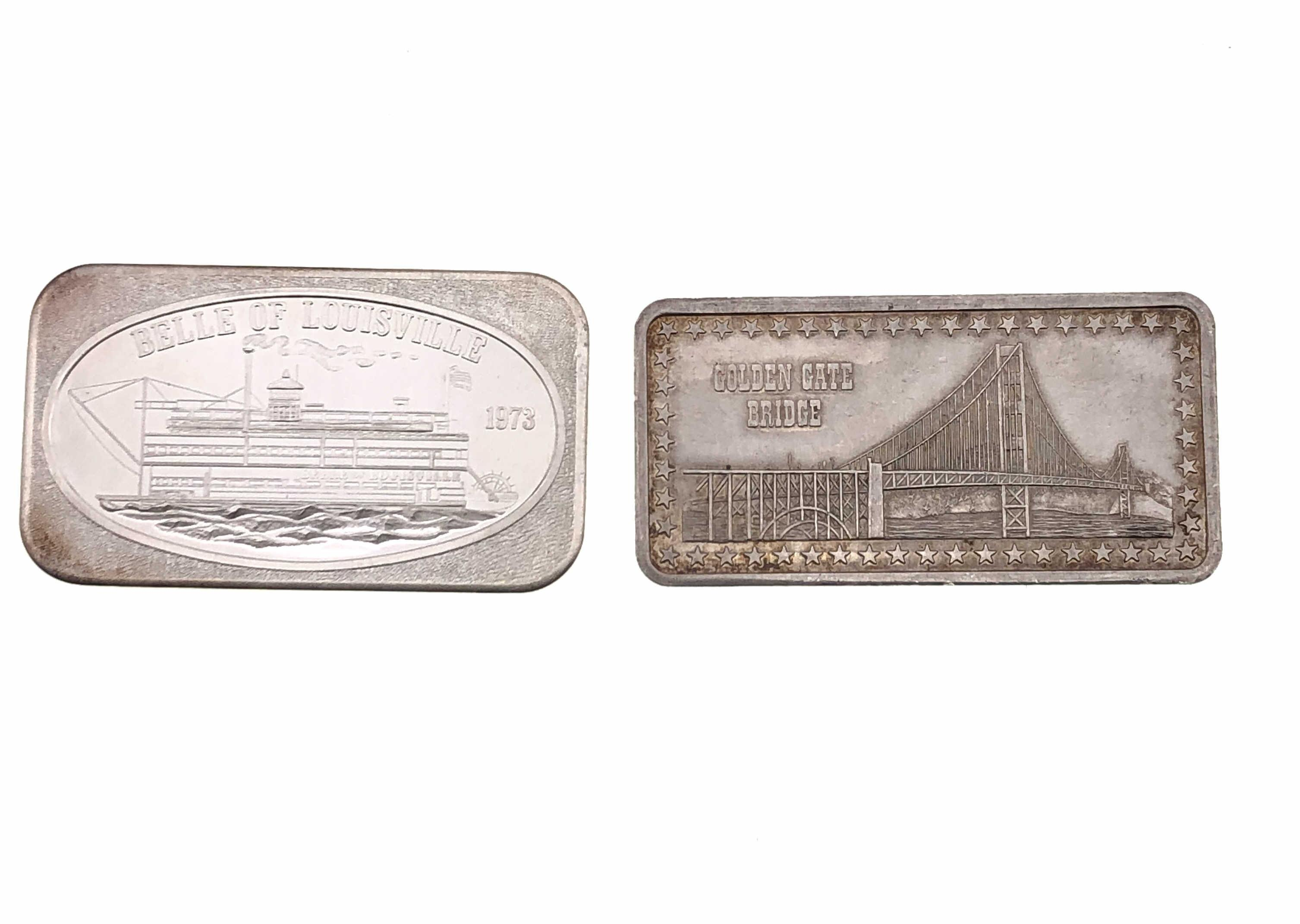 2PC ASSORTED 1 TROY OZ .999 SILVER COLLECTOR BARS
