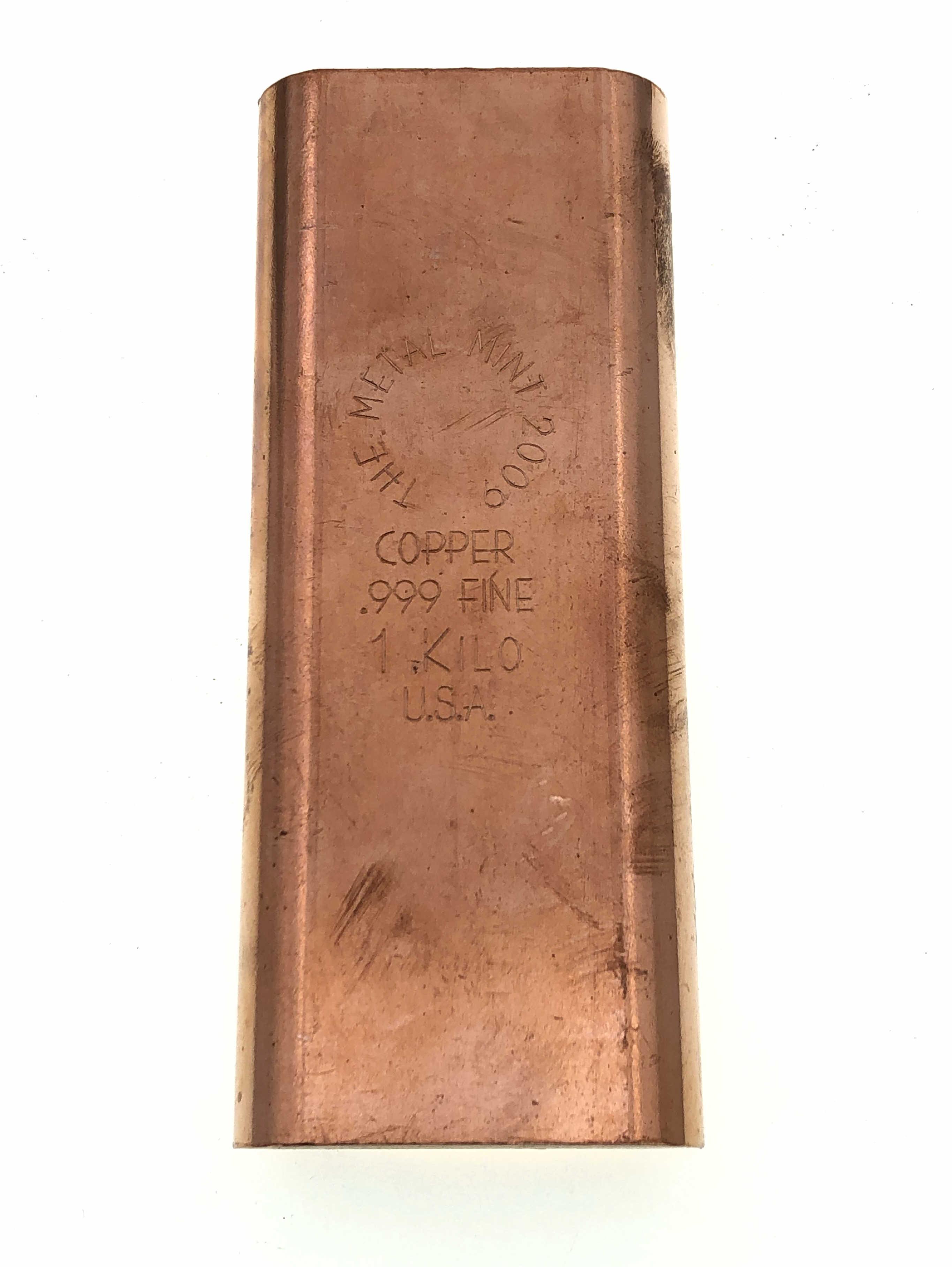 THE METAL MINT 2009 .999 COPPER 1 KILO BAR