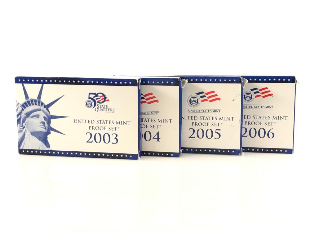 SET 2003-2006 CONSECUTIVE YEAR PROOF SETS