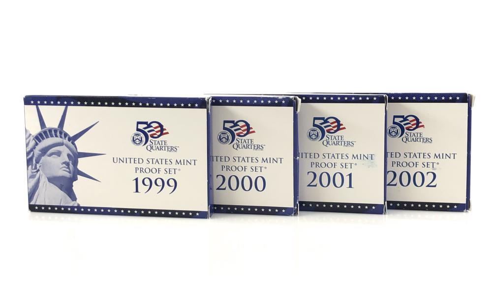 SET 1999-2002 CONSECUTIVE YEAR PROOF SETS