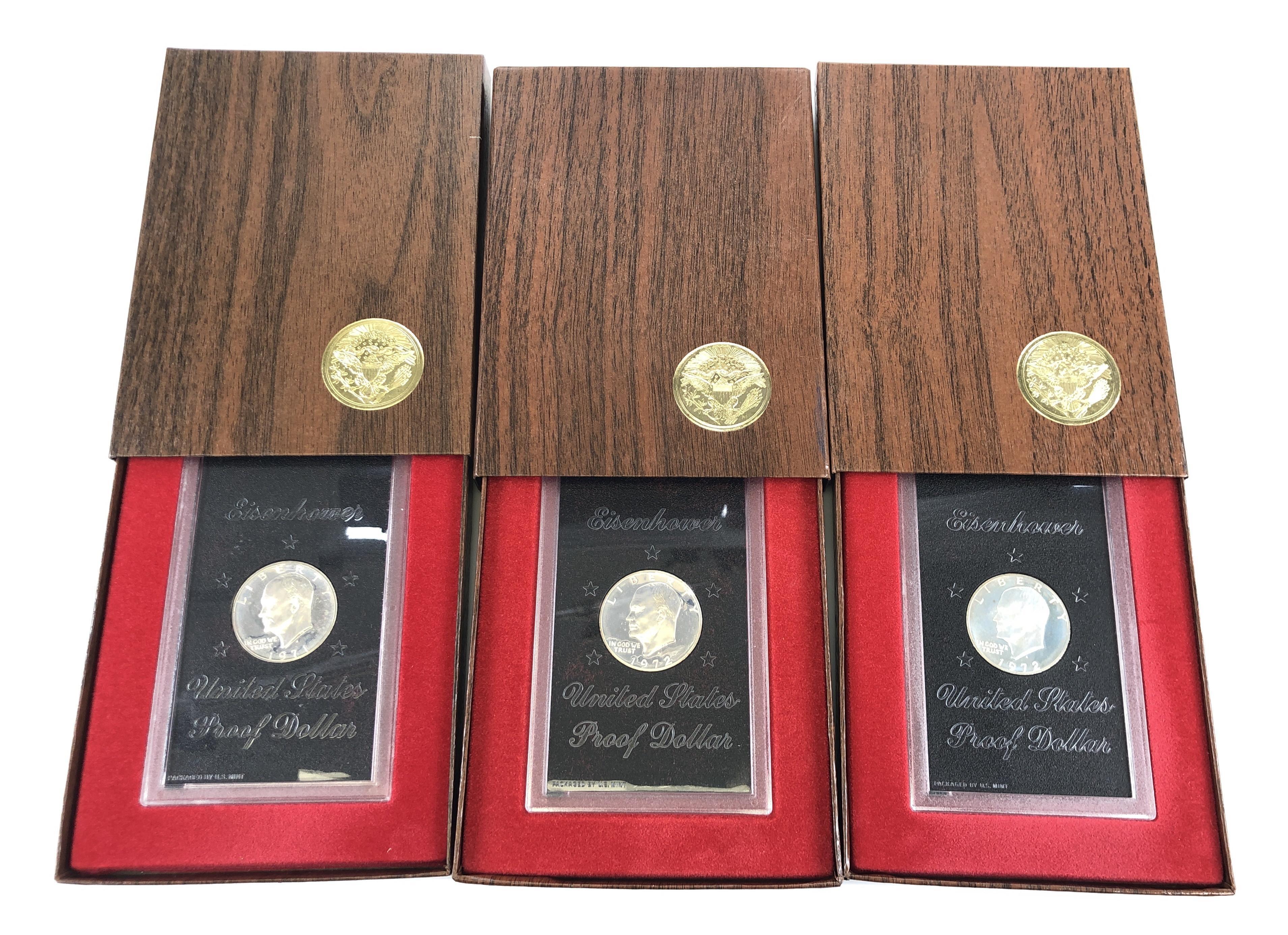 LOT OF 3 1971-1972 U.S. EISENHOWER DOLLAR