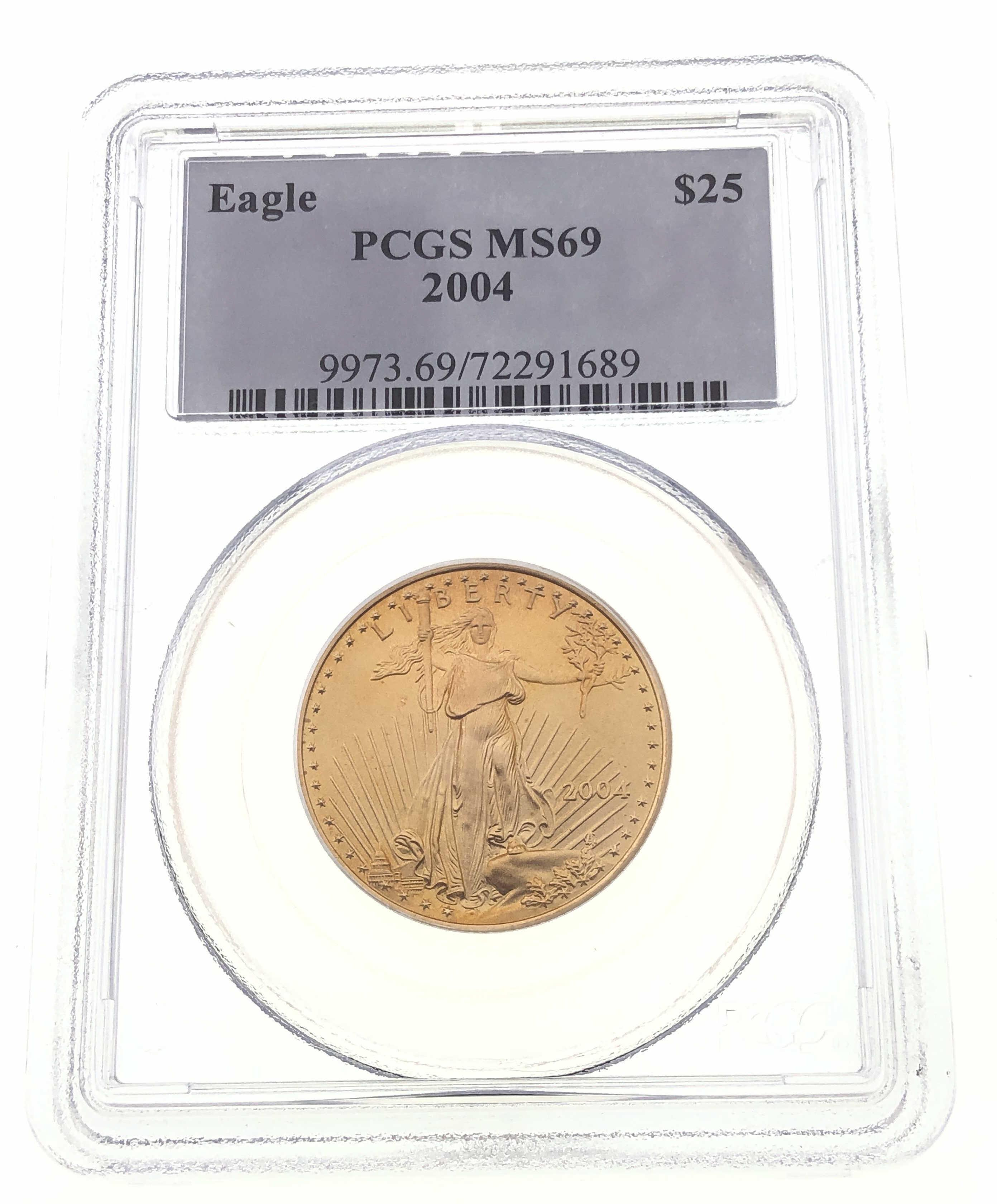 2004 AMERICAN GOLD EAGLE $25 PCGS MS69