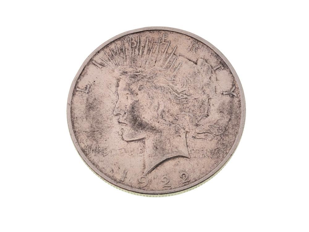 1922 D SILVER PEACE DOLLAR