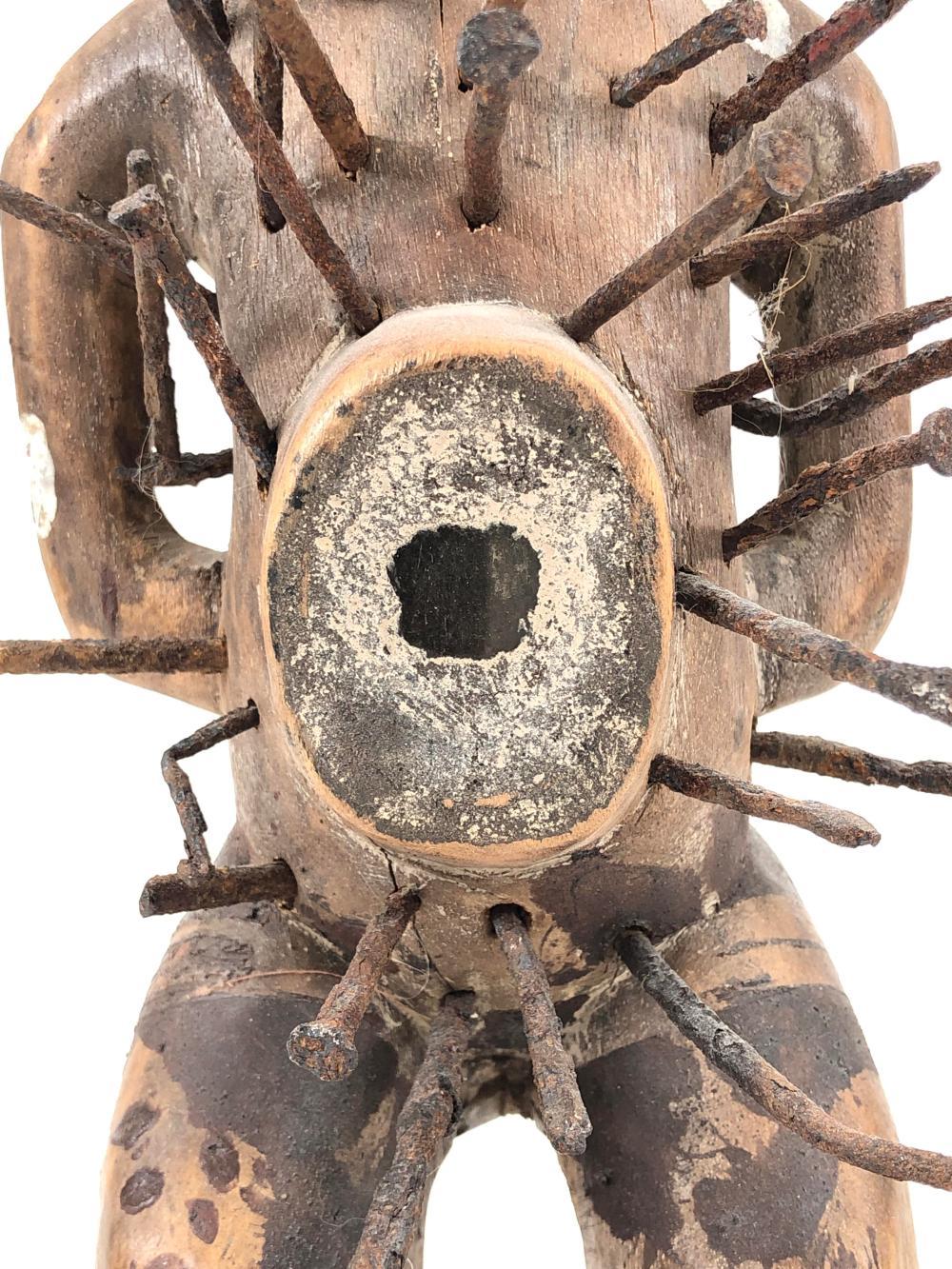 Affordable Antique Bakongo Tribe Protective Nkisi Nkondi