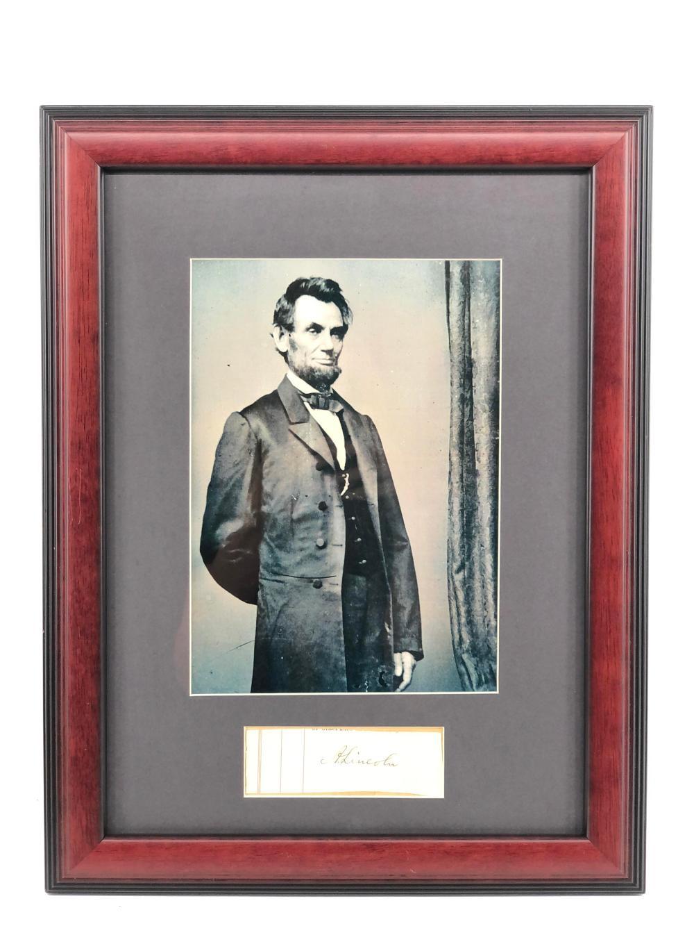 AUTHENTIC ABRAHAM LINCOLN AUTOGRAPH & PHOTOGRAPH