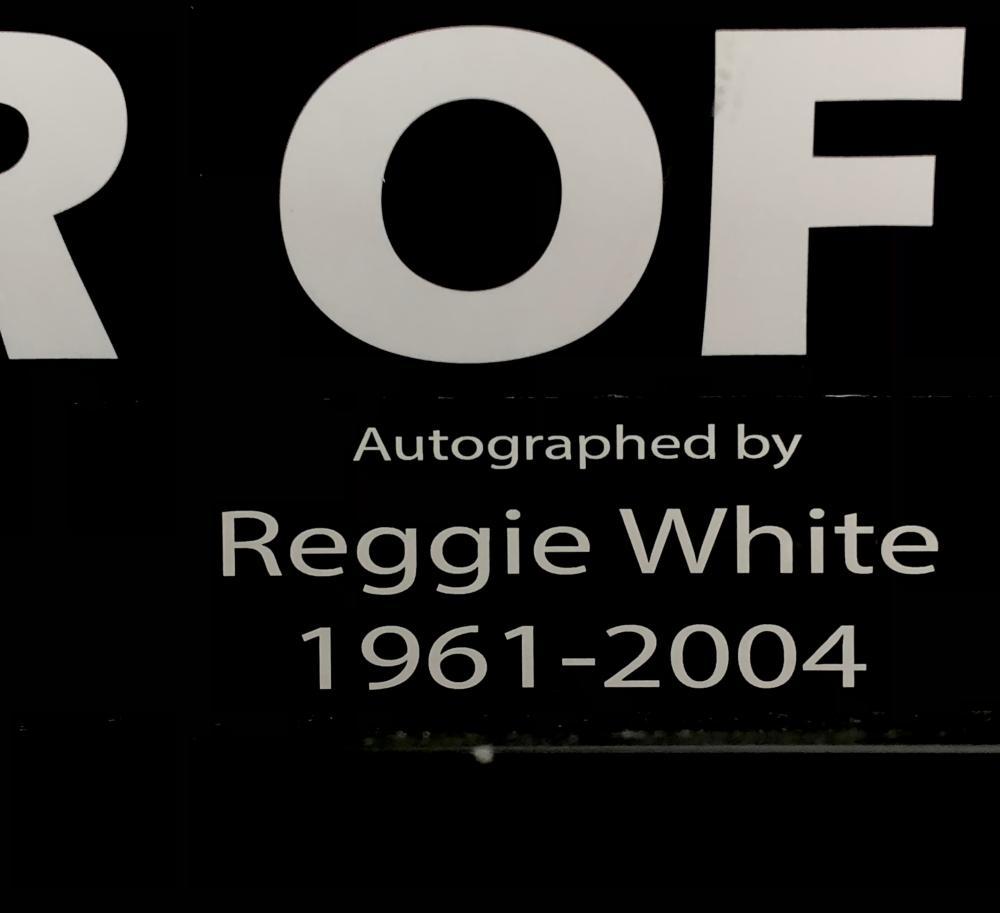 REGGIE WHITE HOF PHILADELPHIA EAGLES AUTOGRAPHED JERSEY
