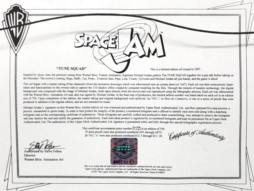 MICHAEL JORDAN AUTOGRAPHED SPACE JAM