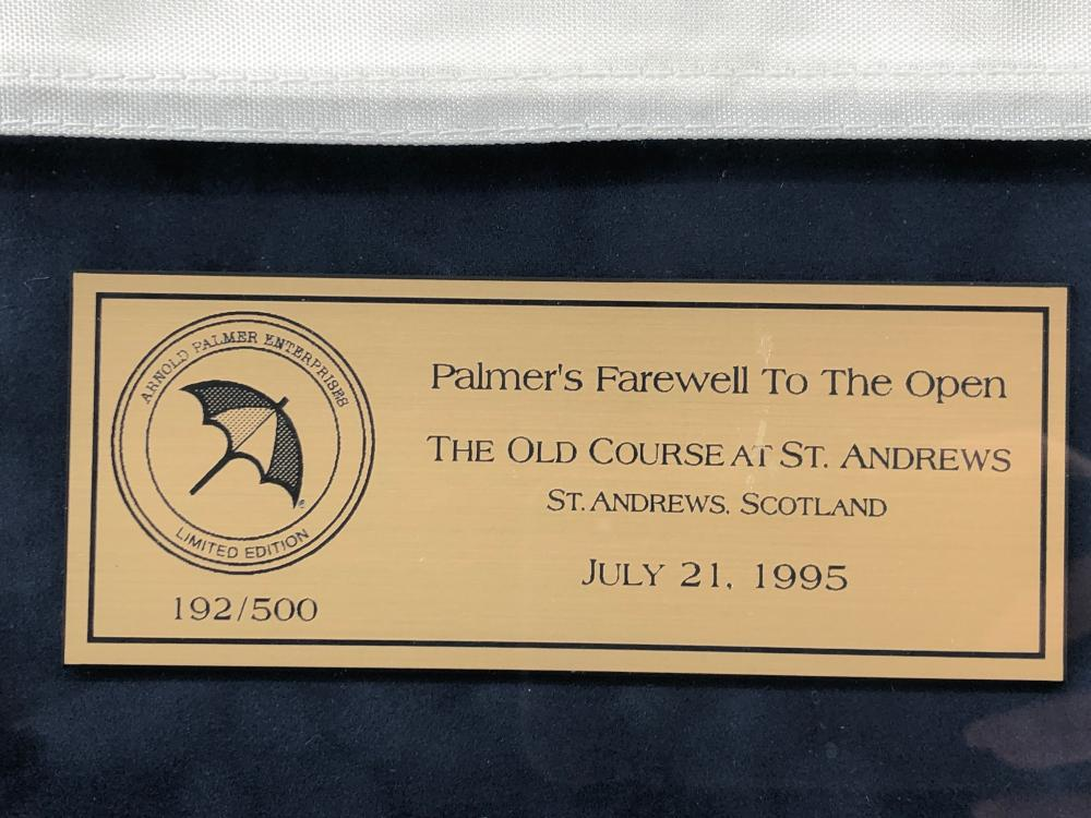 ARNOLD PALMER'S FAREWELL TO THE OPEN AUTOGRAPHED FLAG