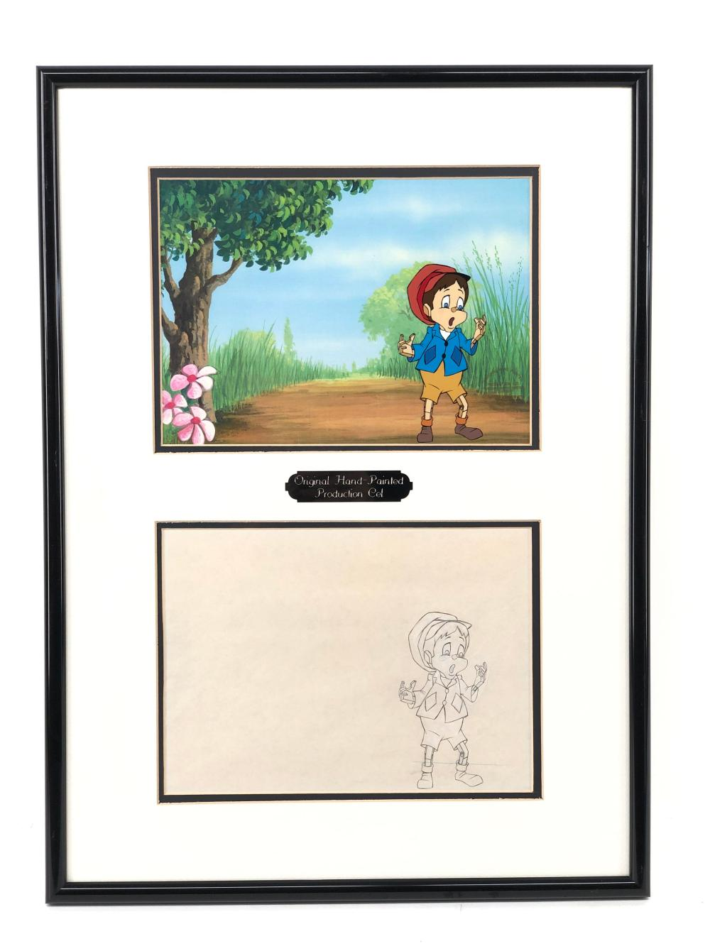 1987 PINOCCHIO AND THE EMPEROR OF THE NIGHT HAND PAINTED CEL