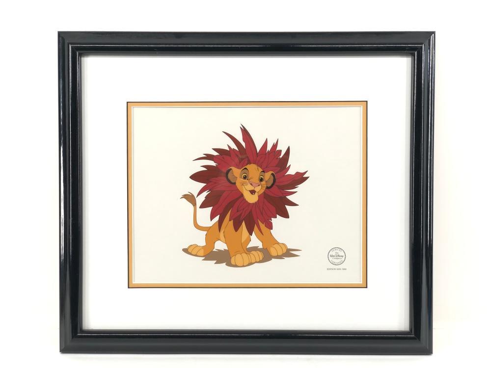 "DISNEY SERICEL SIMBA THE LION KING ""THE MANE EVENT"" CEL"