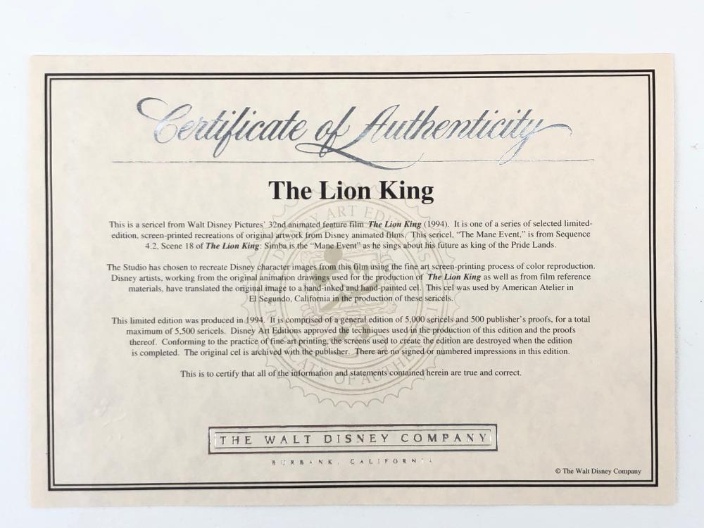 DISNEY SERICEL SIMBA THE LION KING