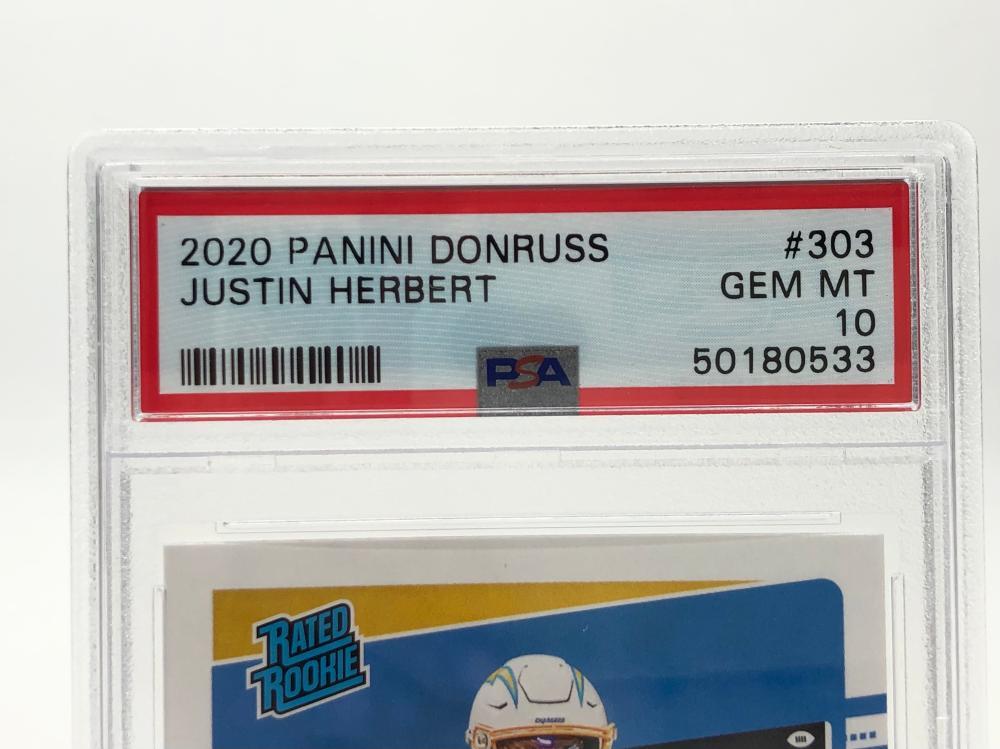 JUSTIN HERBERT 2020 PANINI DONRUSS #303 PSA 10 GEM