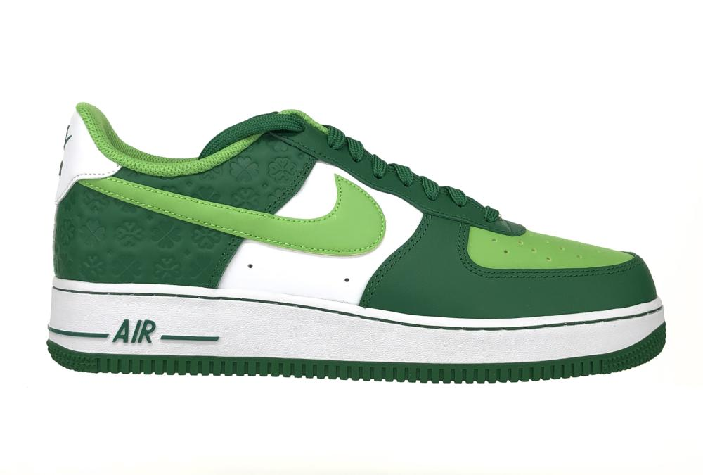 NIKE AIR FORCE 1 LOW SHAMROCK ST PATRICK'S DAY SNEAKERS