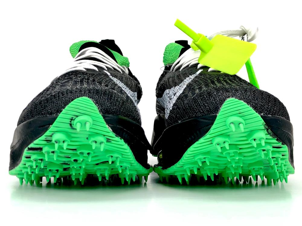 NIKE AIR ZOOM TEMPO NEXT% OFF-WHITE BLACK SCREAM GREEN SNEAKERS