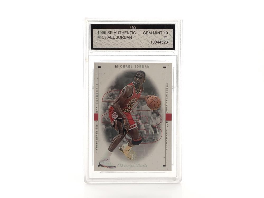 1999 SP #1FGS MICHAEL JORDAN GEM MINT 10 GRADED CARD