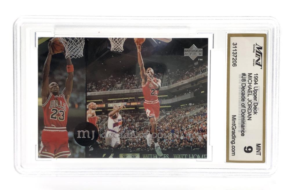 1994 UPPER DECK MICHAEL JORDAN MINT 9 GRADED CARD