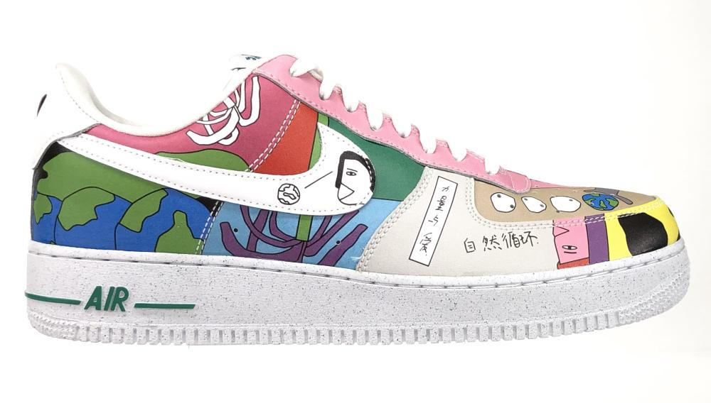 NIKE AIR FORCE 1 FLYLEATHER RUOHAN WANG SNEAKERS