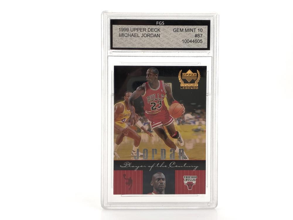 1999 #87 FGS MICHAEL JORDAN GEM MINT 10 GRADED CARD