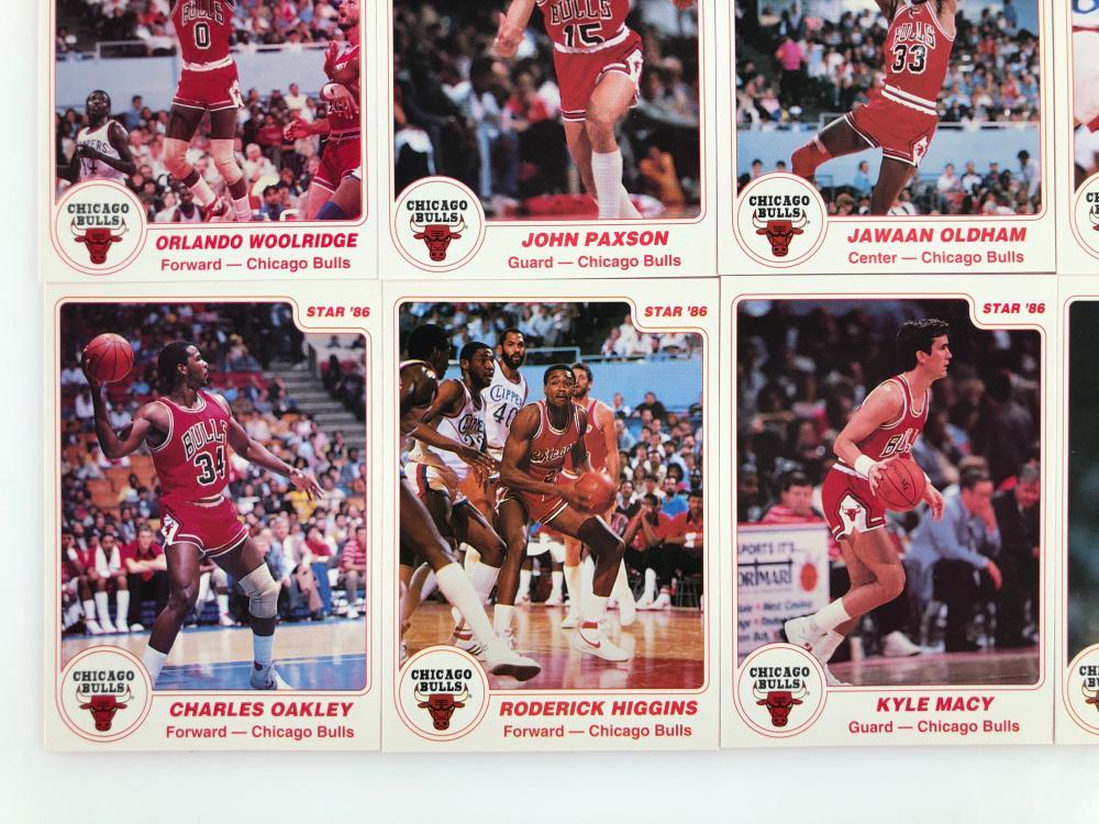 1985-86 BULLS TEAM STAR ARENA 11 CARD SET