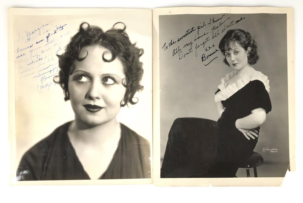 LOT OF 2 BONNIE POE 'BETTY BOOP' INSCRIBED PHOTOS