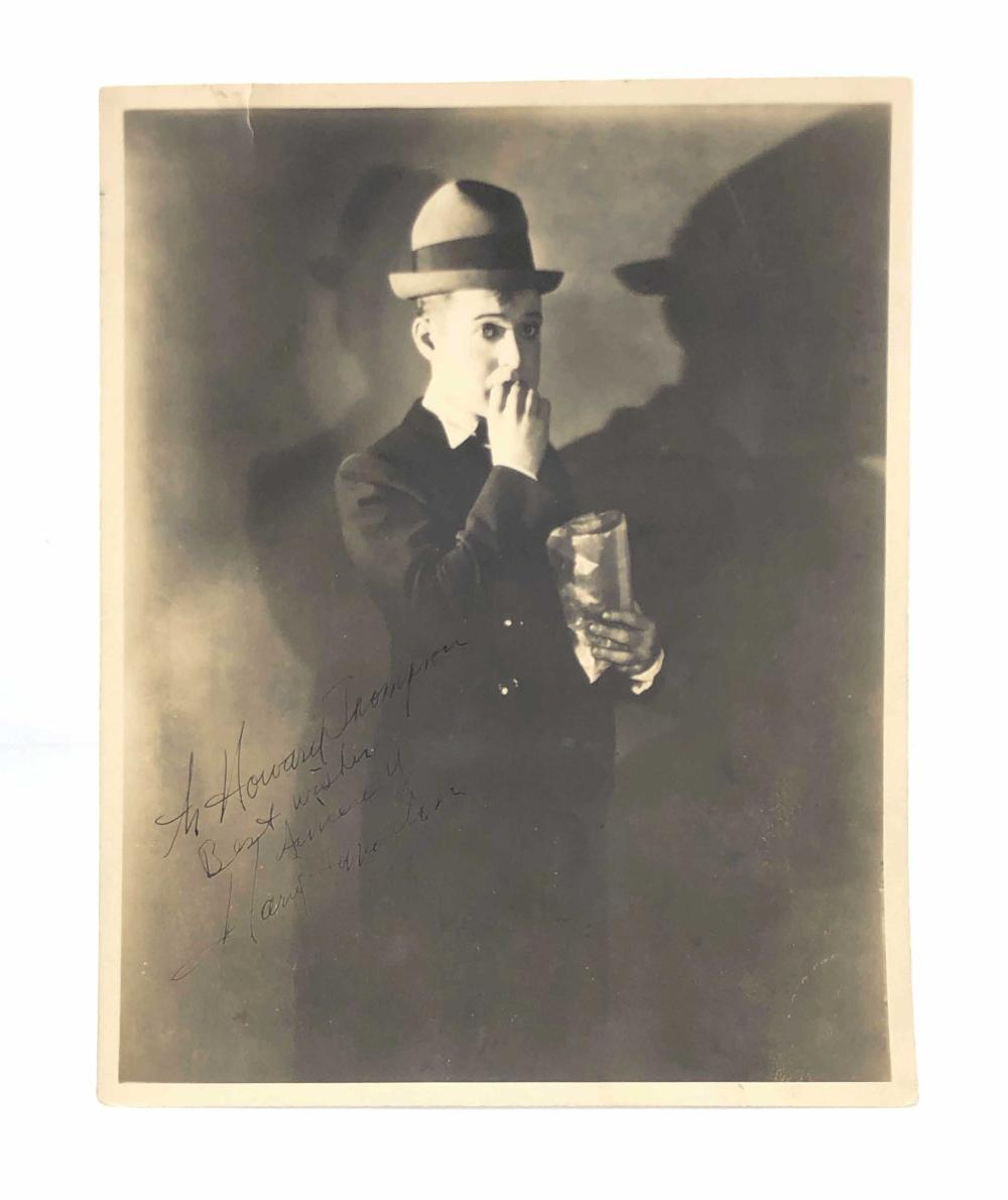 HAROLD LANGDON SILENT ACTOR INSCRIBED PHOTO